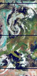 Europe from METEOR M2 Weather Satellite