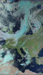 Europe from METEOR M2-2 Weather Satellite