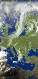 Europe from NOAA Weather Satellite